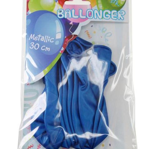 Bilde av Metallic Ballonger Mørk Blå, 8 stk