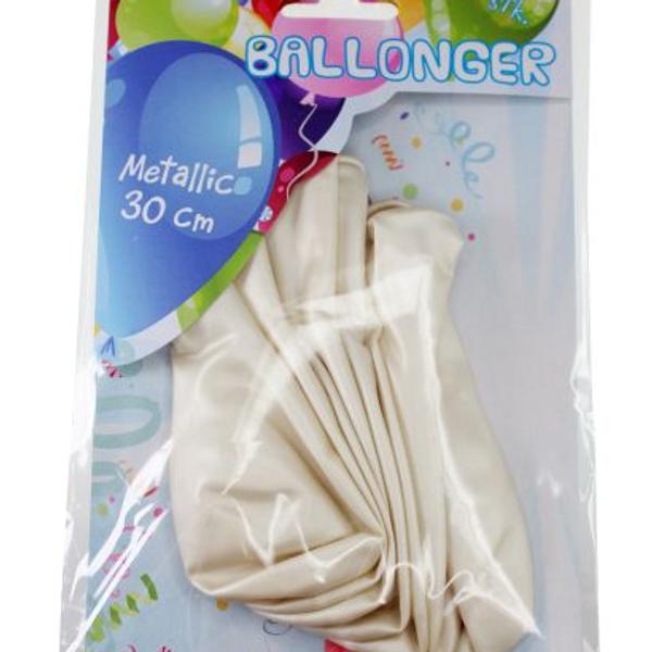 Bilde av Metallic Ballonger Hvit, 8 stk