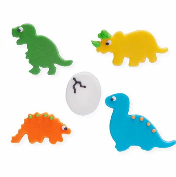 Bilde av Sukkerpynt, Dinosaur med egg, 5 stk