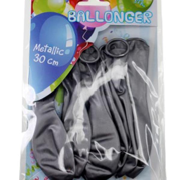 Bilde av Metallic Ballonger Sølv, 8 stk