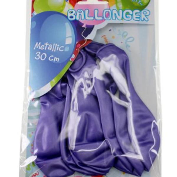 Bilde av Metallic Ballonger Lilla, 8 stk