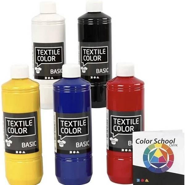 Bilde av Tekstilmaling, Primærfarger, 5*500ml