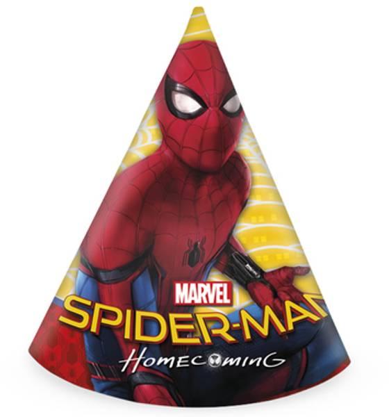 Bilde av Spiderman Homecoming  Partyhatter, 6 stk
