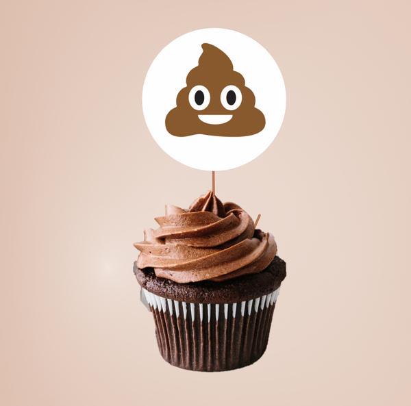 Bilde av Poop, Cupcaketoppers, 8 stk