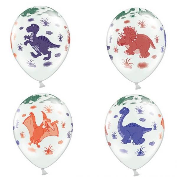 Bilde av Dinosaur pastell hvite ballonger