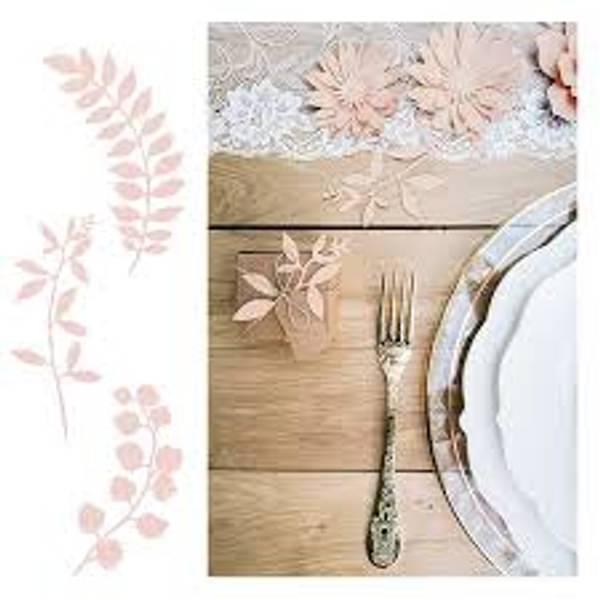 Bilde av Rustikk Borddekorasjoner Blader, Rosa