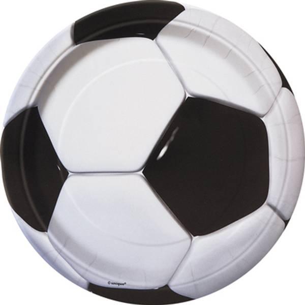 Bilde av Fotball, Tallerker, 8stk