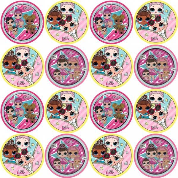 Bilde av Lol Surprise, Cupcakebilder, Sukkerpapir, 16 stk