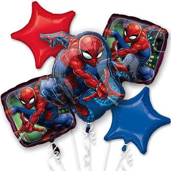 Bilde av Spiderman, Folieballongbukett
