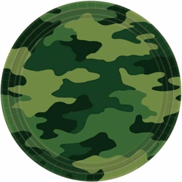 Bilde av Camouflage, Tallerker, 8 stk