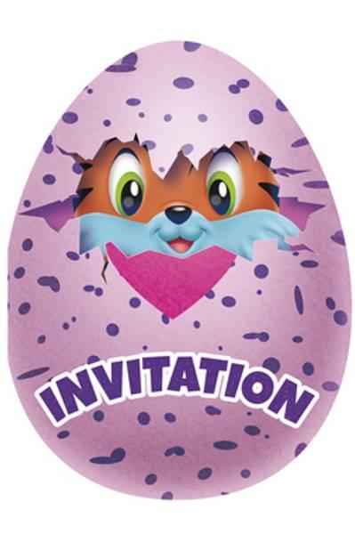 Bilde av Hatchimals Invitasjoner, 8 stk