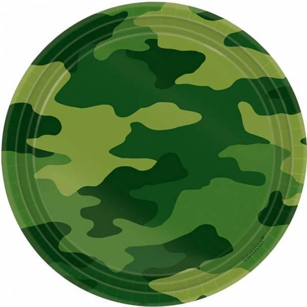Bilde av Camouflage, Asjetter, 8 stk