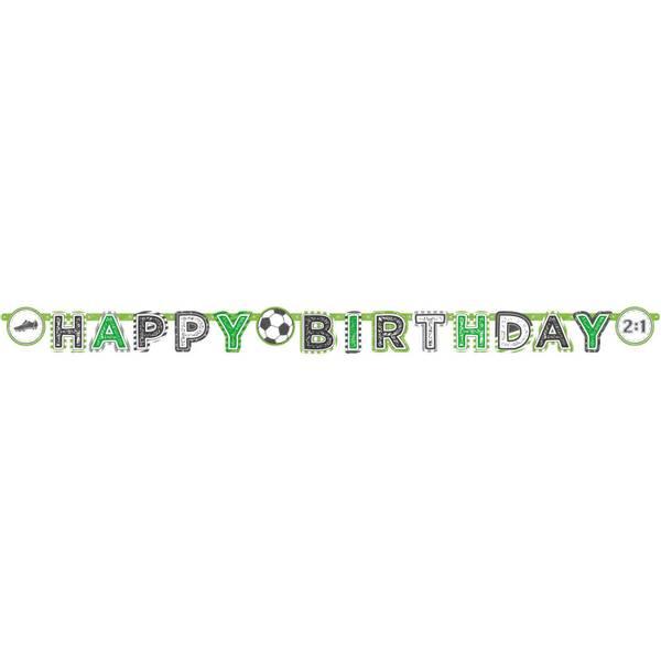 Bilde av Fotball Happy Birthday Banner 3