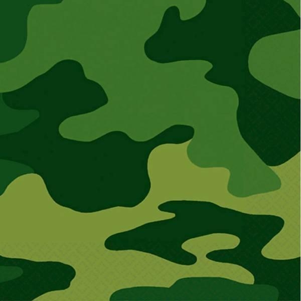 Bilde av Camouflage, Cafe servietter, 16 stk