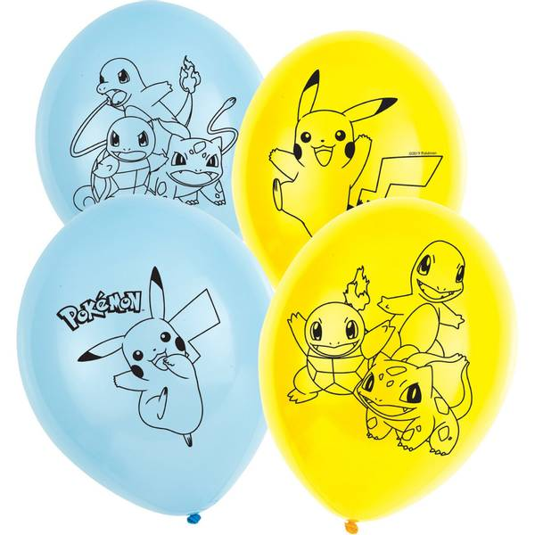 Bilde av Pokemon Ballonger, 2, 6 stk
