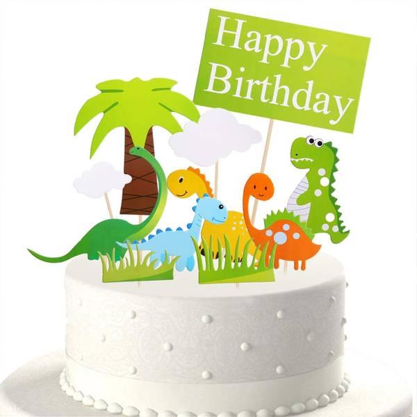 Bilde av Dinosaur Happy Birthday Kaketopper