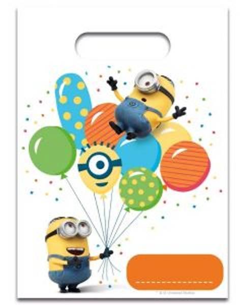 Bilde av Minions Balloon Party Godteposer, 6 stk