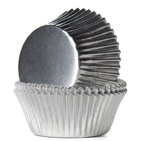 Bilde av Sølv, Folie Cupcakeformer, 45 stk