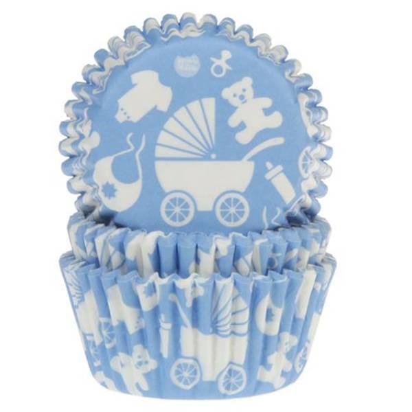 Bilde av Blå Baby, Cupcakeformer, 50 stk