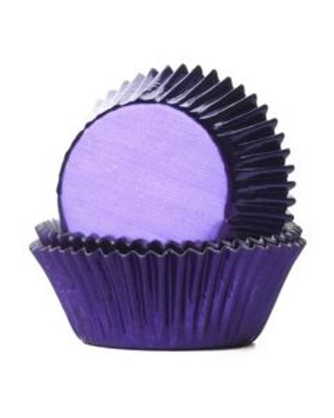 Bilde av Fiolett, Folie Muffinsformer, 24 stk