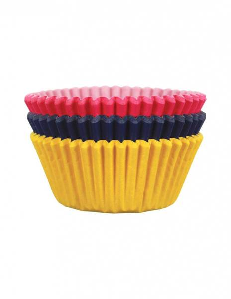 Bilde av Muffinsformer, Rosa/Gul/Blå, 60 stk