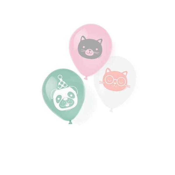 Bilde av Katt og Hund, Ballonger, 6 stk