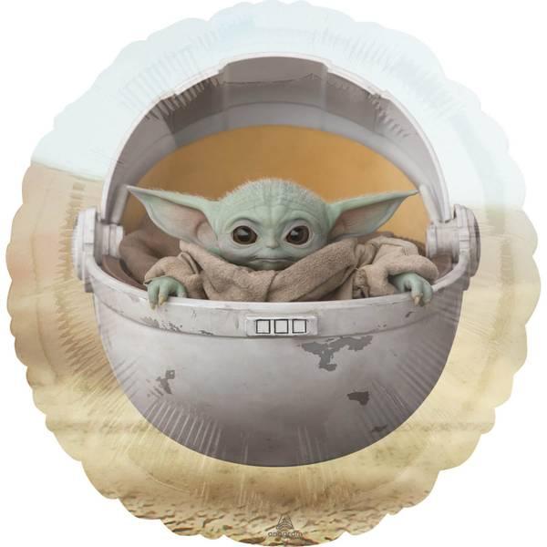 Bilde av Star Wars The Mandalorian, Baby Yoda/Grogu Rund Folieballong, 43