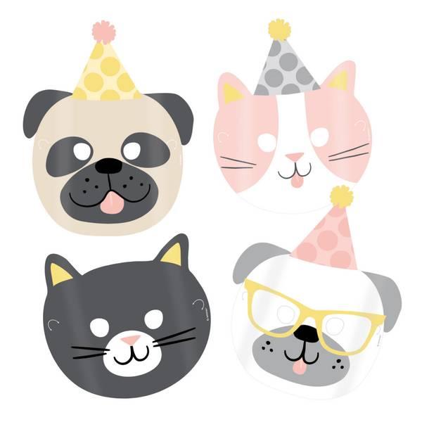 Bilde av Katt og Hund, Masker 8 stk