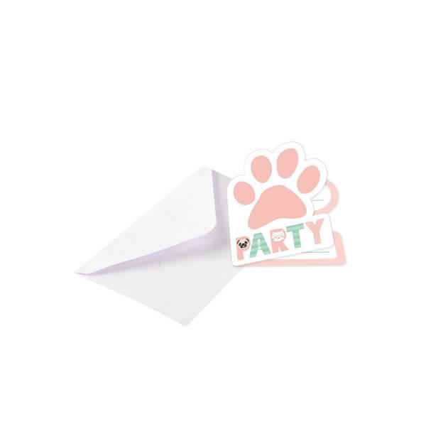 Bilde av Katt og Hund, Innbydelser, 8 stk