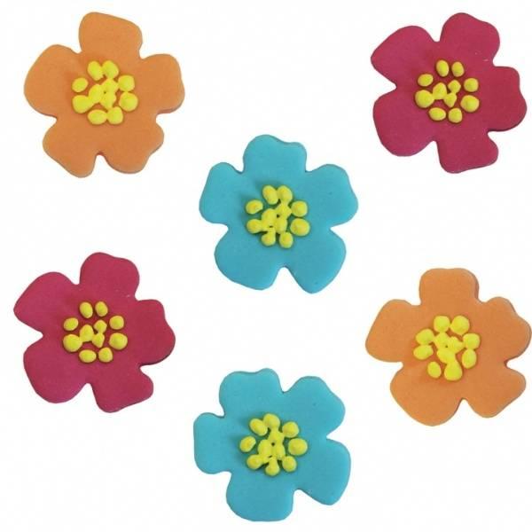 Bilde av Sukkerpynt, Hawaii Blomster 6 stk