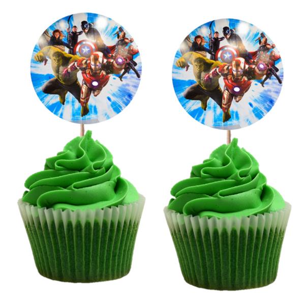 Bilde av Avengers Cupcaketoppers 2, 8 stk