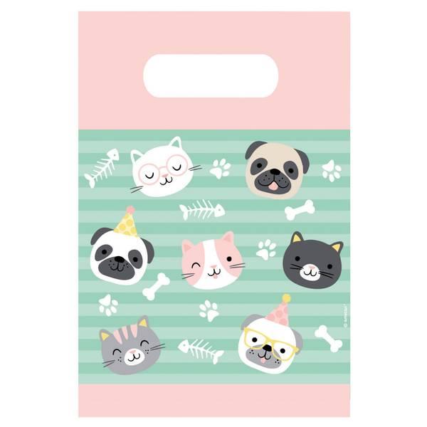 Bilde av Katt og Hund, Papirposer, 8 stk