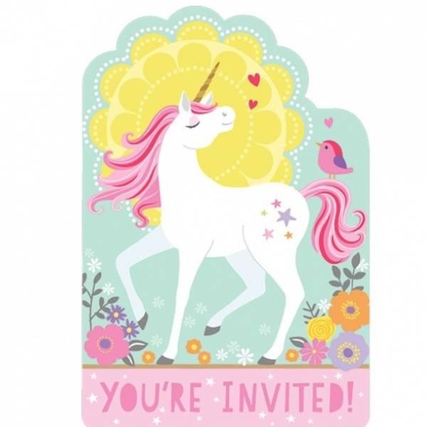 Bilde av Magical Unicorn, Invitasjon, 8 stk