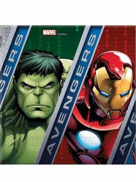 Bilde av Marvel Avengers, Servietter, 20stk