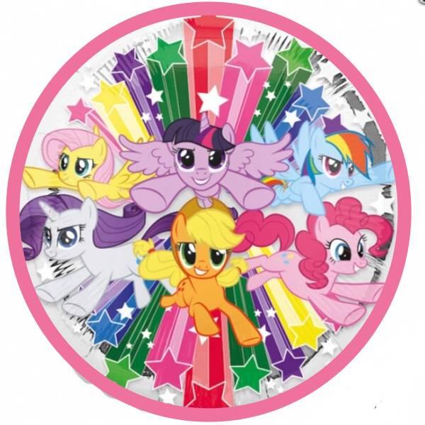 Bilde av My Little Pony, Kakebilde 3, Sukkerpapir, 20 cm