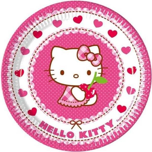 Bilde av Hello Kitty, Tallerker, 8 stk