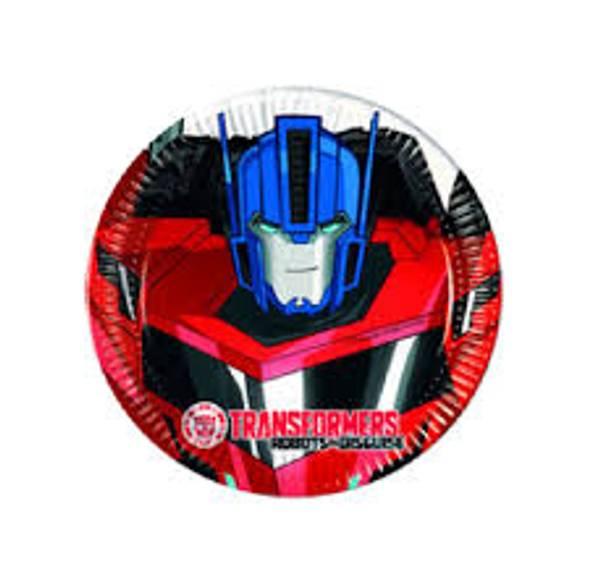 Bilde av Transformers Asjetter, 8 stk