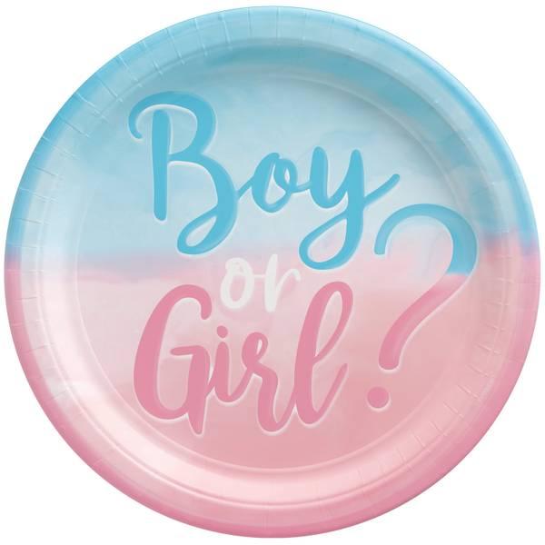 Bilde av Boy or Girl, Tallerkner 8 stk