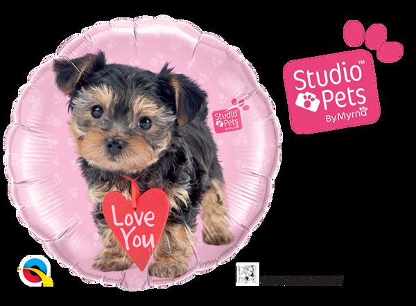 Bilde av  Folieballong, Love you - Hund