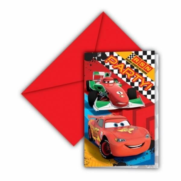 Bilde av Cars Invitasjoner - 6 stk