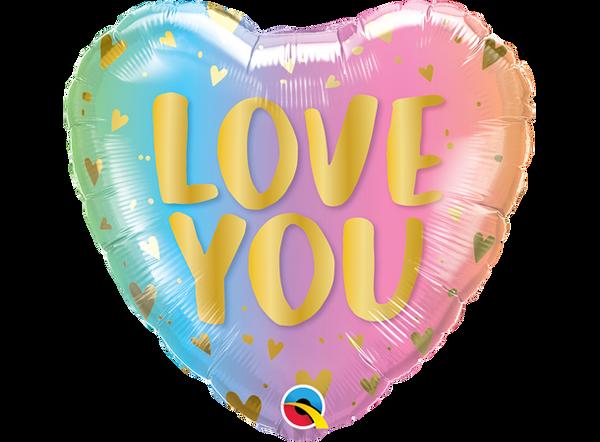 Bilde av Love You, Hjertefolieballong 46 cm