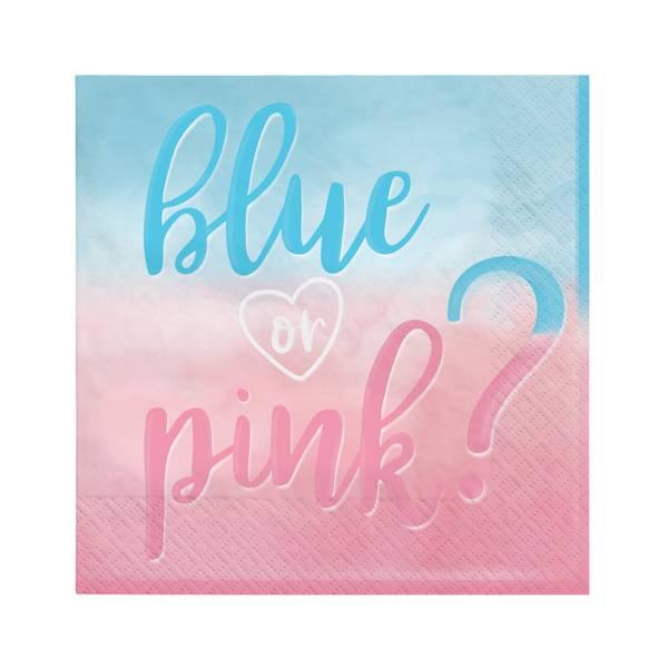 Bilde av Blue or Pink Servietter, 16 stk