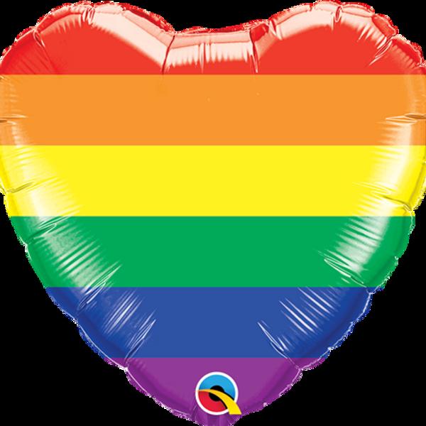 Bilde av Regnbue Hjertefolieballong 46 cm