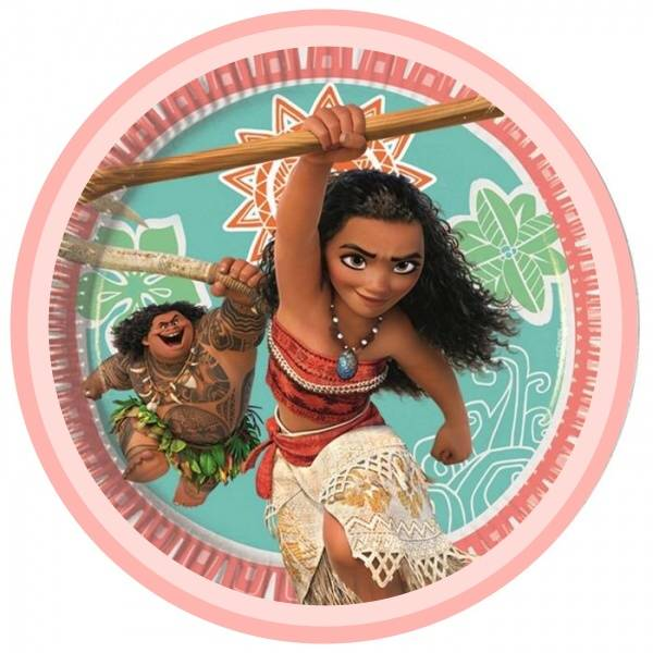 Bilde av Vaiana Kakebilde, Sukkerpapir,20cm