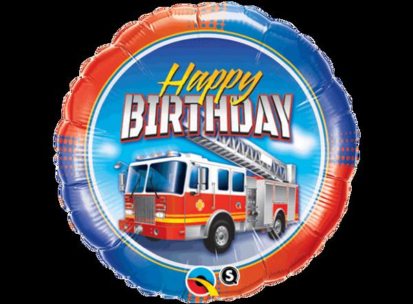 Bilde av Brannbil Happy Birthday Folieballong 46 cm