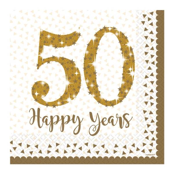 Bilde av 50 Års Jubileum Servietter