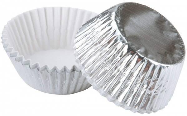 Bilde av Sølv, Wilton Folie Muffinsformer, 24stk