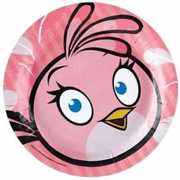Bilde av Pink Bird Tallerken, 8sk