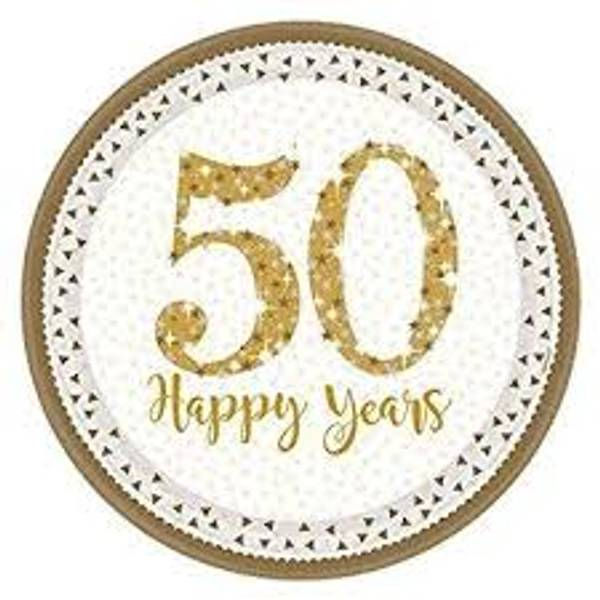 Bilde av 50 Års Jubileum Tallerken, 8 stk