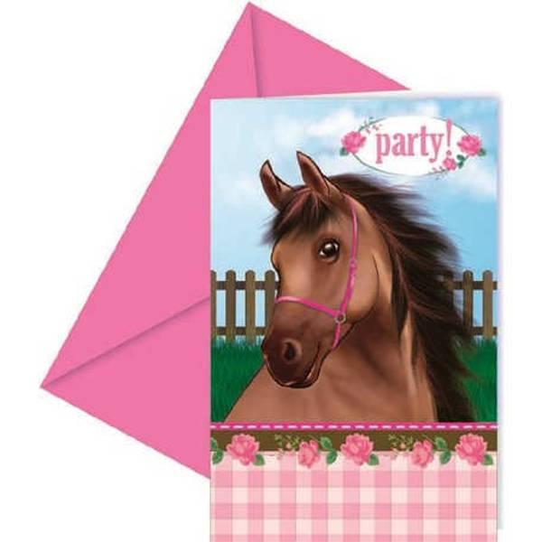 Bilde av Heste invitasjoner, 6stk